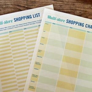Printable Multi-Store Shopping Lists