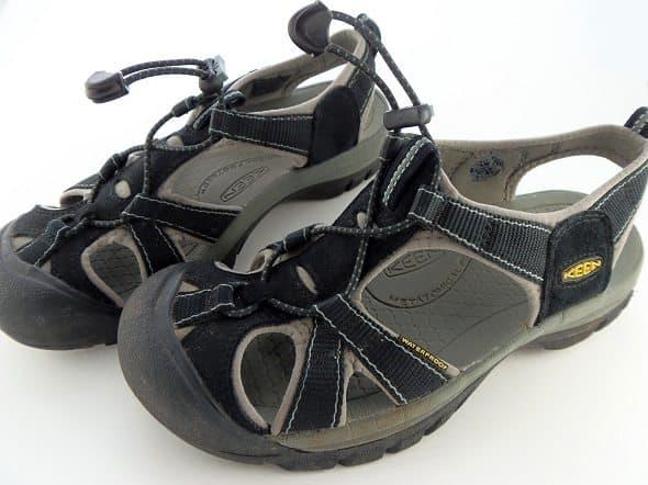 Black Keen Sandals