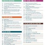 Printable Pre-Trip Checklist