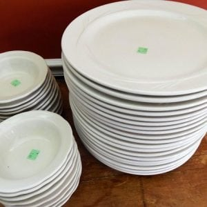 Salvation Army Score: White Dishes