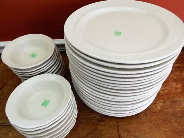 White Dishes
