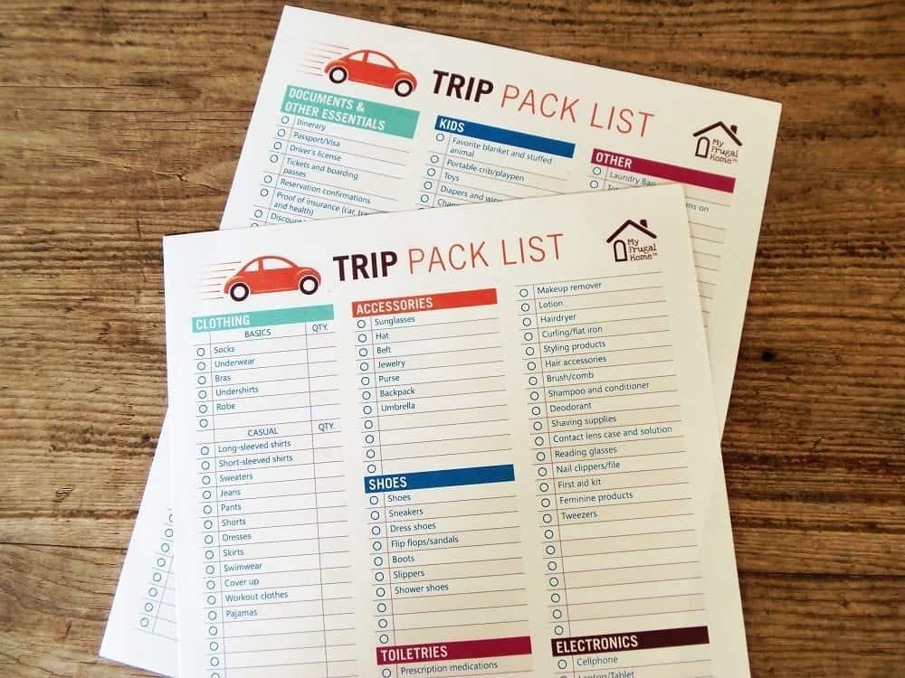 Trip Pack List