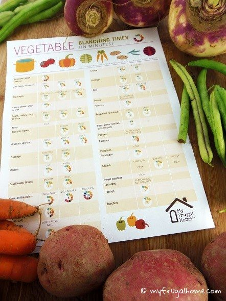 Vegetable Blanching Times Chart