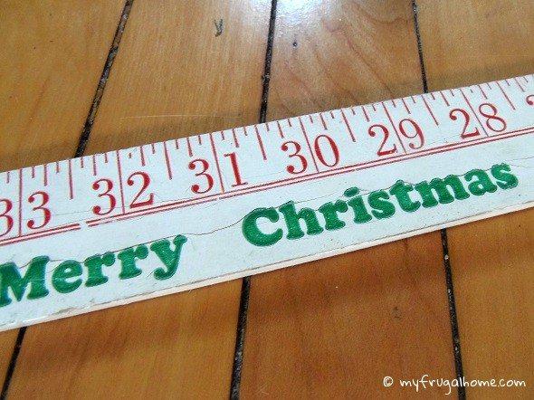 Christmas Yard Stick