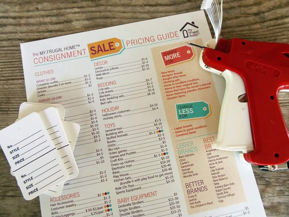 Consignment Sale Pricing Guide