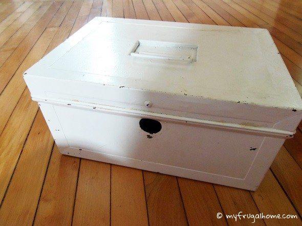 White Lock Box