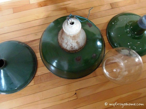 Vintage Enameled Lights