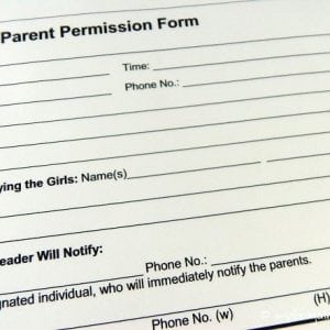 Girl Scout Permission Slip