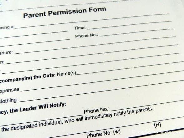 Girl Scout Permission Slip