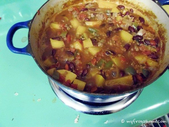 Pot of Butternut Squash Chili