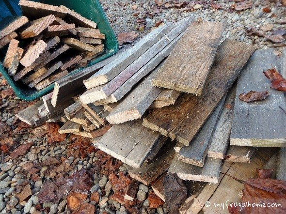 Pallets Cut Up for Firewood
