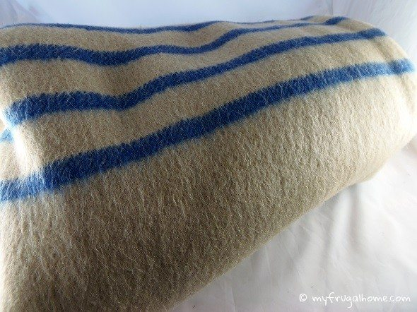 Vintage Boiled Wool Blanket