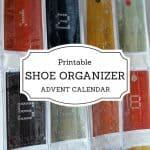 Printable Shoe Organizer Advent Calendar