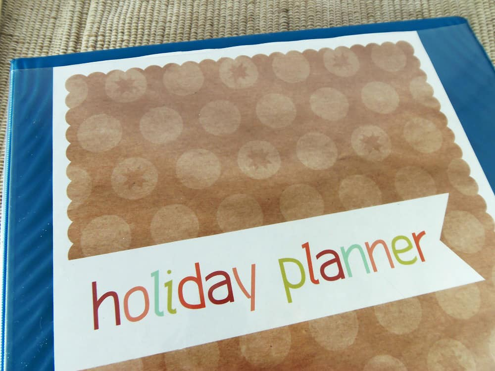 Printable Holiday Planner Cover