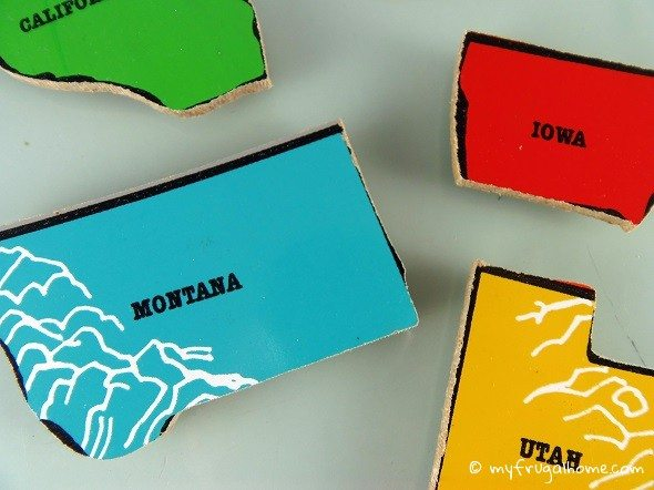 State Puzzle Magnets