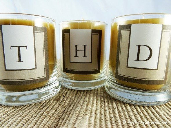 Candles with Contemporary Monograms
