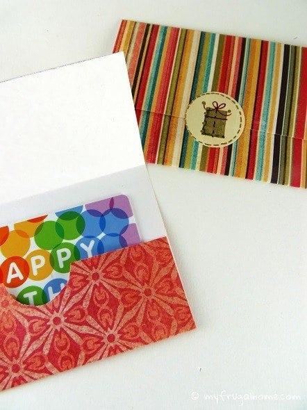 Gift Card Envelopes - Seal Shut