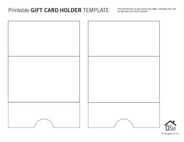 Printable Gift Card Holder Template - Seal Shut