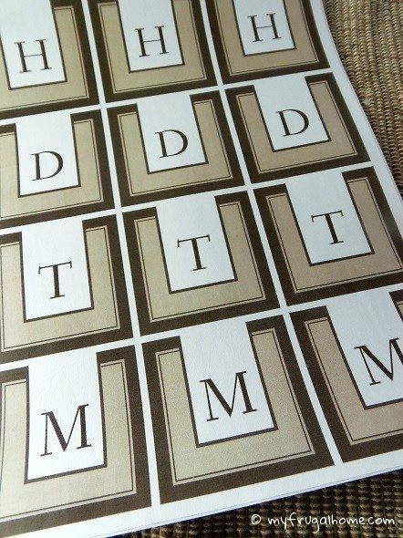 Printable Contemporary Monogram Labels