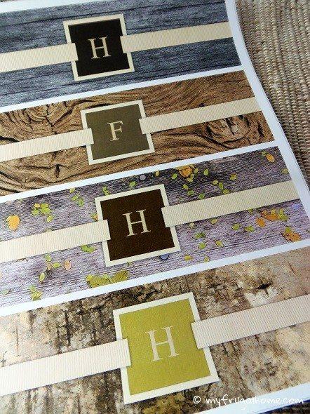 Printable Natural Monogram Labels