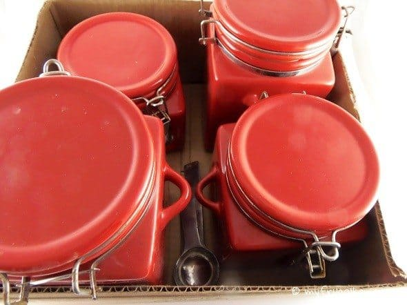 Red Canister Set