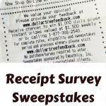 Receipt Survey Sweepstakes