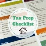 Printable Tax Prep Checklist