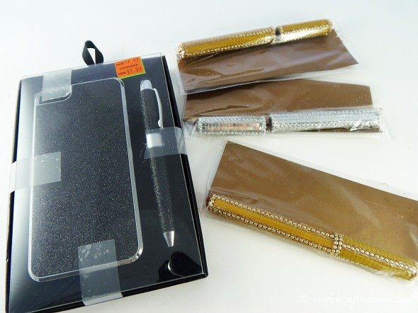 Cell Phone Case and Pens