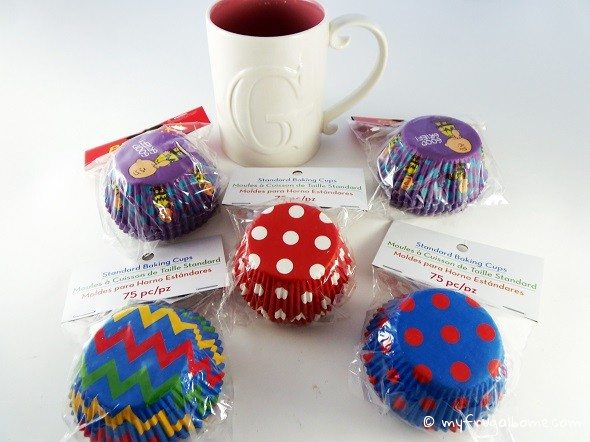 Cupcake Wrappers and Mug
