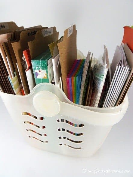 Greeting Card Basket - Side View