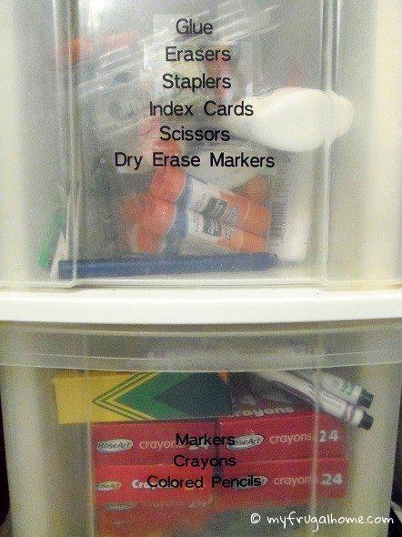 Organized School Supplies