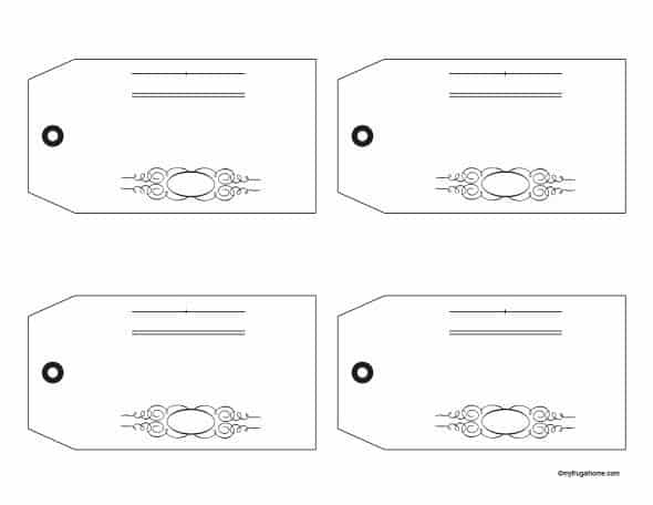 Receipt Jar Tags - Blank