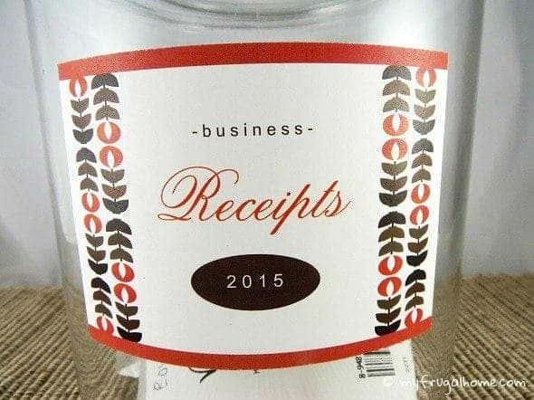 Printable Receipt Label