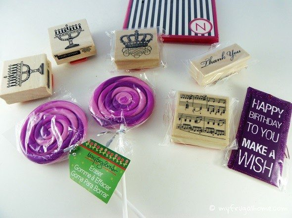 Rubber Stamps, Note Cards and Erasers