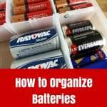 Batteries in an Organizer