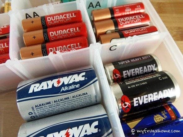 How to Organize Batteries