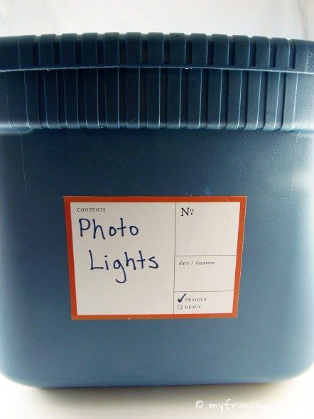 Labeled Storage Bin
