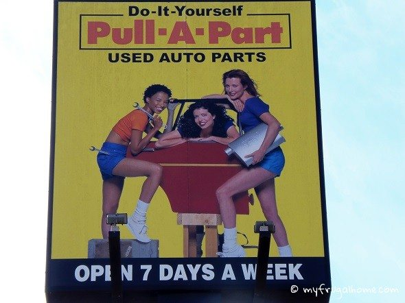 Pull-A-Part Sign