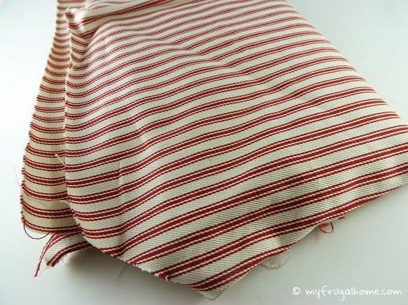 Red Mattress Ticking Fabric