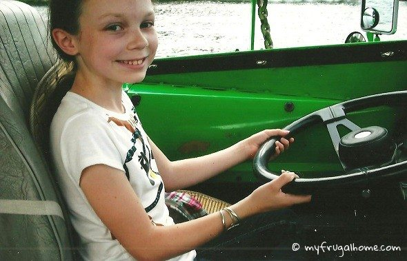 Emily Driving a Duck Boat