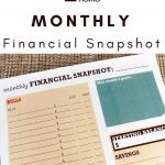 Monthly Financial Snapshot Worksheet