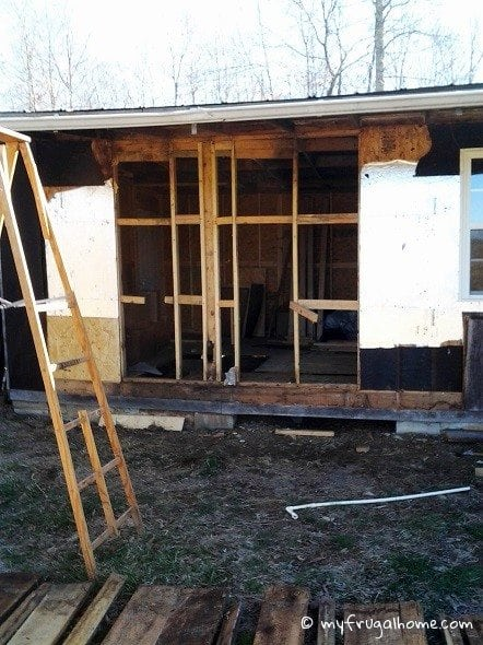 Front Cabin Wall Tear Out