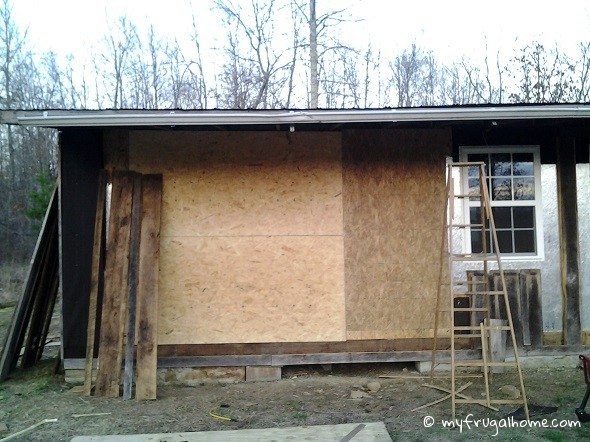 New Sheathing on Front Wall