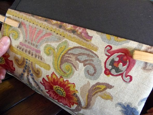 Clip Fabric to Lampshade