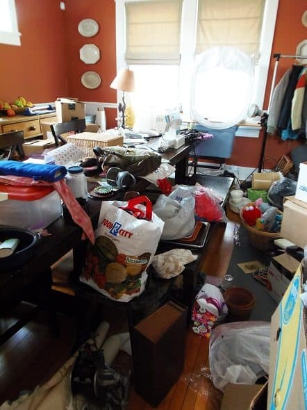 Yard Sale Stuff in the Dining Room