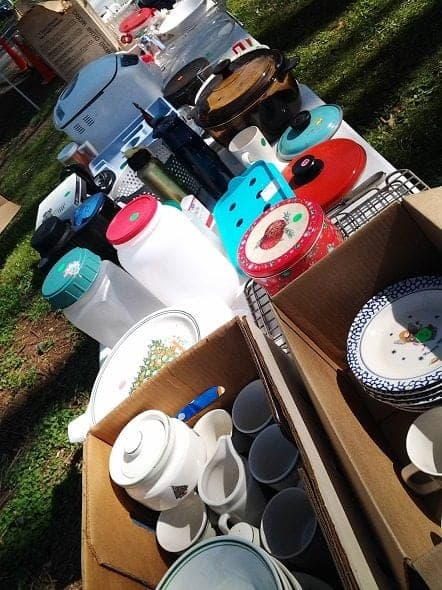 Yard Sale Table