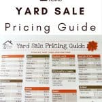graphic regarding Printable Garage Sale Price List identified as Printable Backyard Sale Pricing Lead