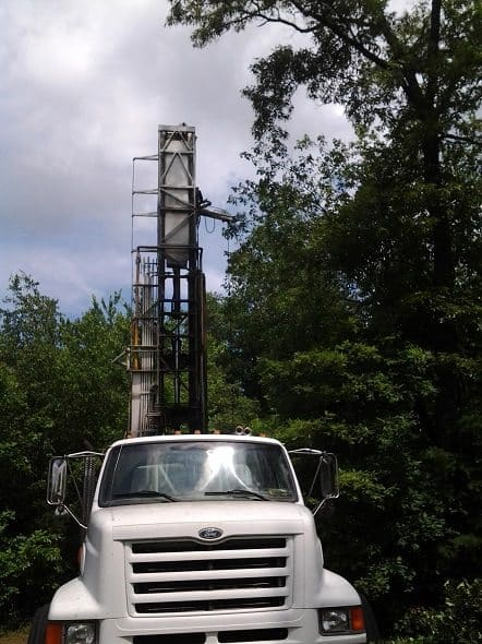 Front of Drilling Rig