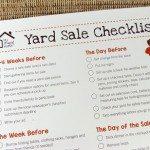Printable Yard Sale Checklist