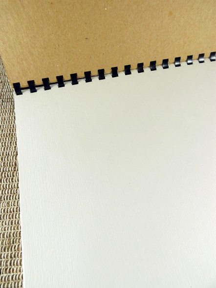 Inside of Homemade Sketchbook